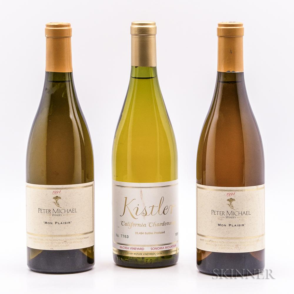 Mixed Sonoma Wines, 3 bottles
