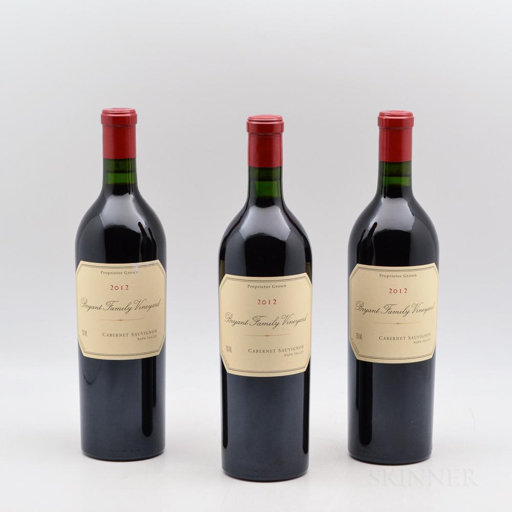 Bryant Estate Bryant Family Vineyard Cabernet Sauvignon 2012, 3 bottles