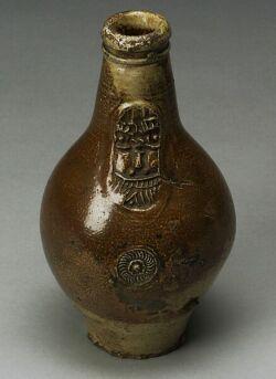 German Brown Stoneware Bartmannkrug