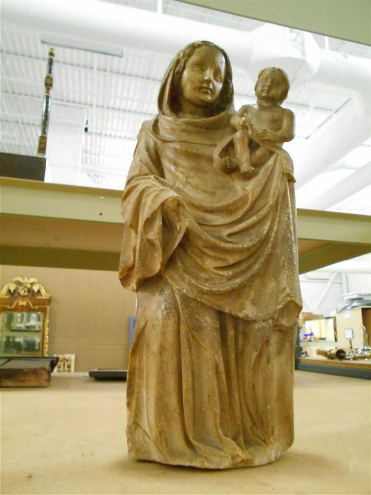 Continental Figural Carving of The Virgin and Child
