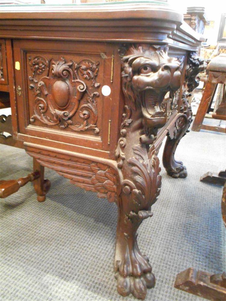 Renaissance Revival Horner-type Partners' Desk