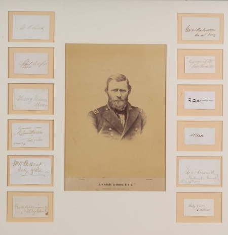 Grant, Ulysses S. (1822-1885) and Cabinet