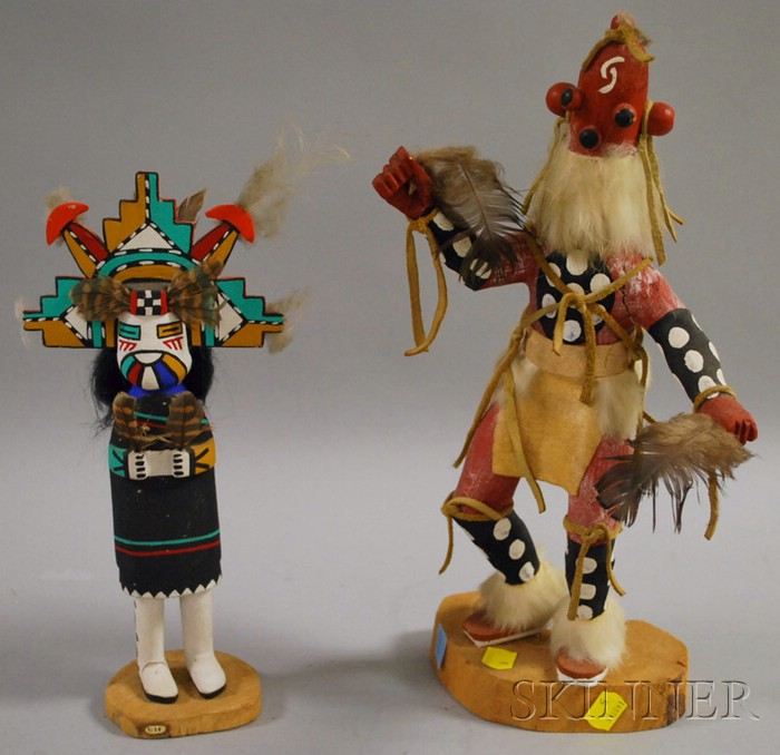 Two Southwest Polychrome Kachinas