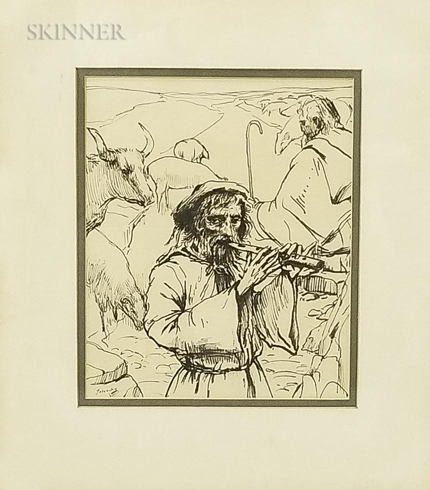 Arthur Polonsky (American, b. 1925)    Two Works