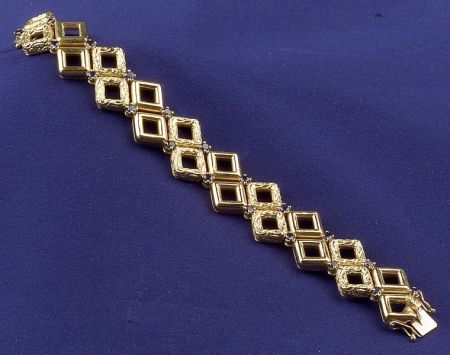 18kt Gold and Sapphire Bracelet, Tiffany & Co.