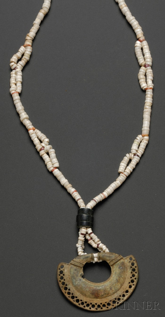 Pre-Columbian Coral Necklace