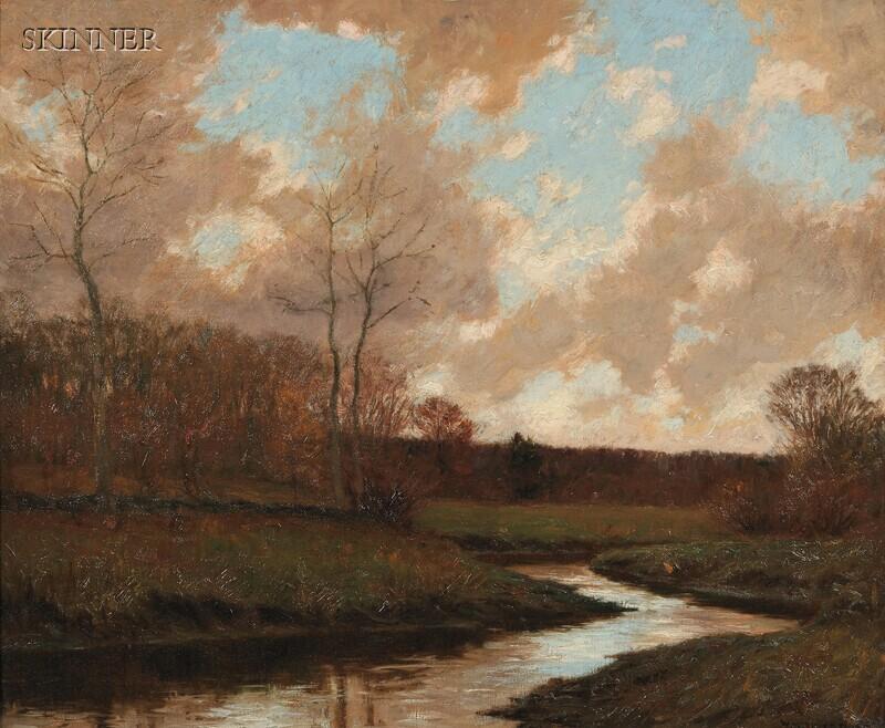 William Merritt Post (American, 1856-1935)      A Cloudy Day