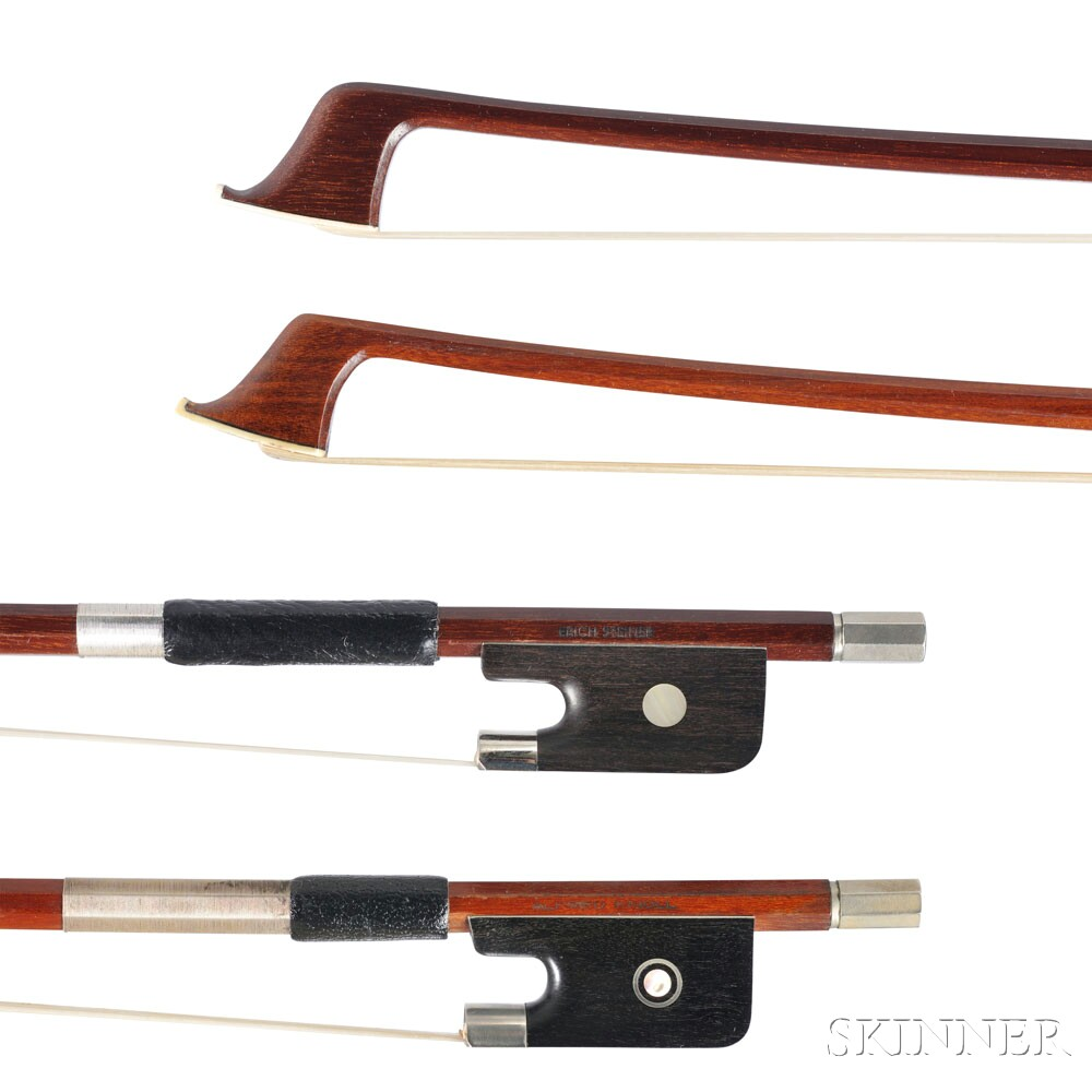 Two Nickel-mounted Violoncello Bows