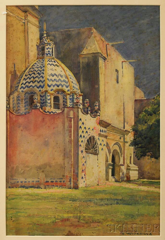 Ellsworth Woodward (American, 1861-1939)      Chapel with a Blue and White Dome