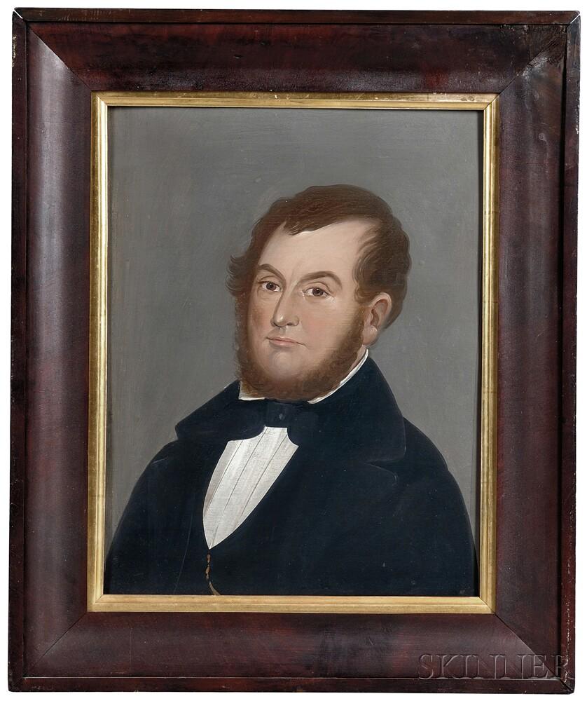 William Matthew Prior (Massachusetts/Maine, 1806-1873)      Portrait of Doctor Silas Tompkins, New Bedford, Massachusetts