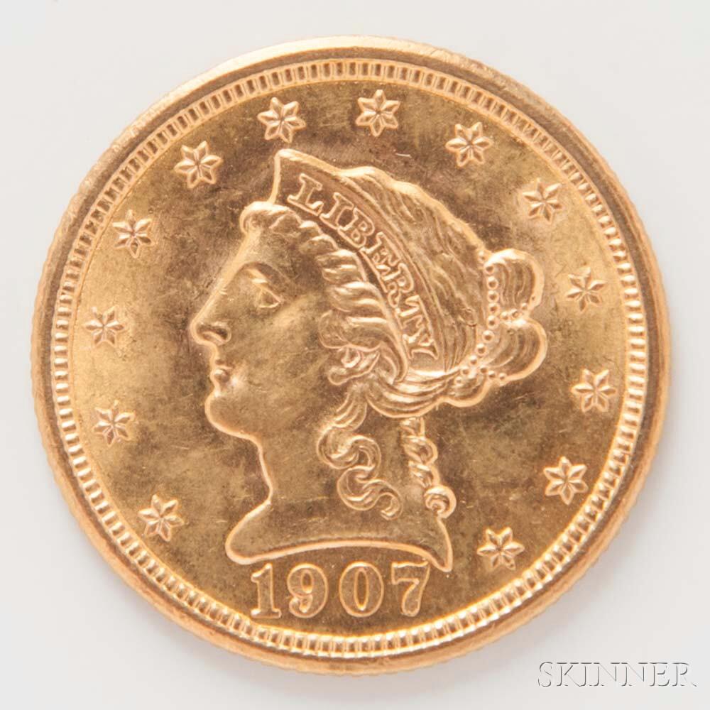 1907 $2.50 Liberty Head Gold Coin