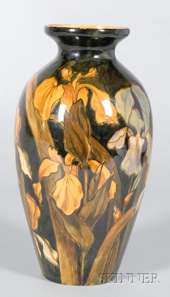 Linthorpe Handpainted Earthenware Vase