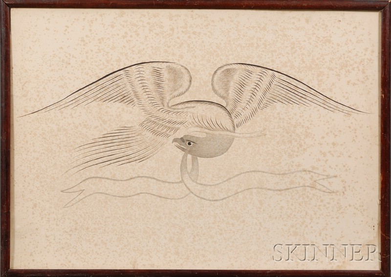 Framed Calligraphic Eagle