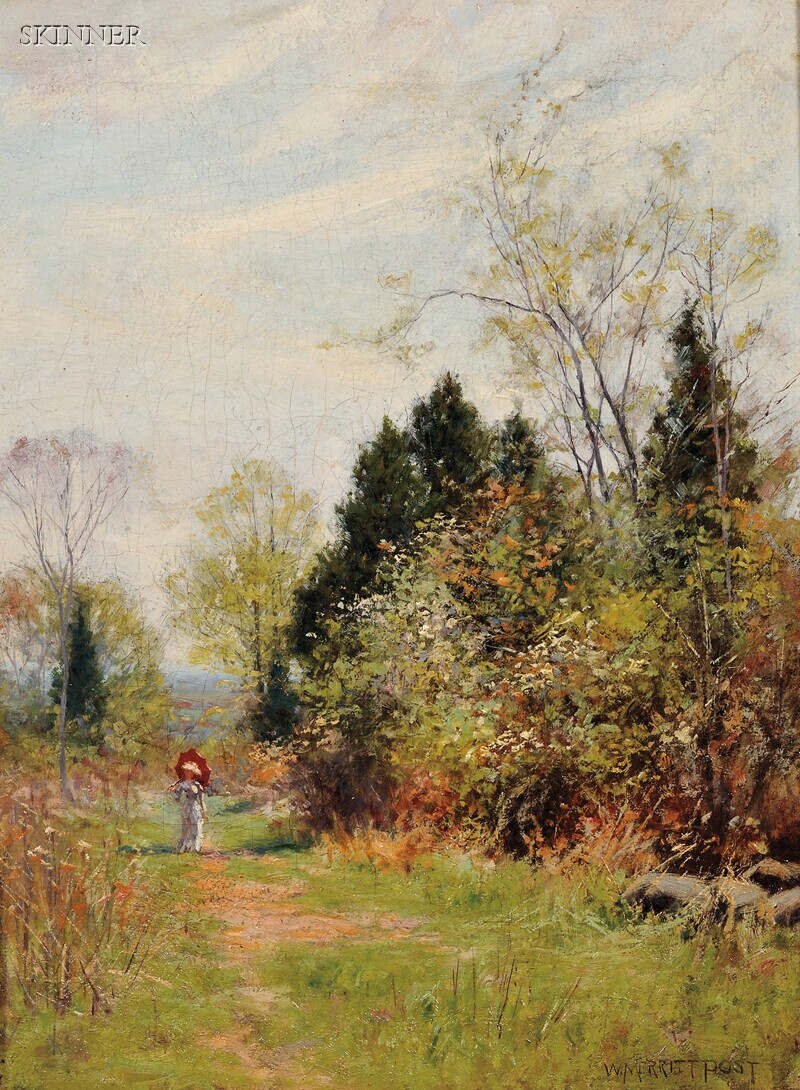 William Merritt Post (American, 1856-1935)      The Parasol