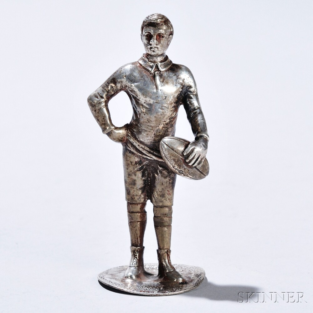 Edward VII Sterling Silver Rugby Player Finial
