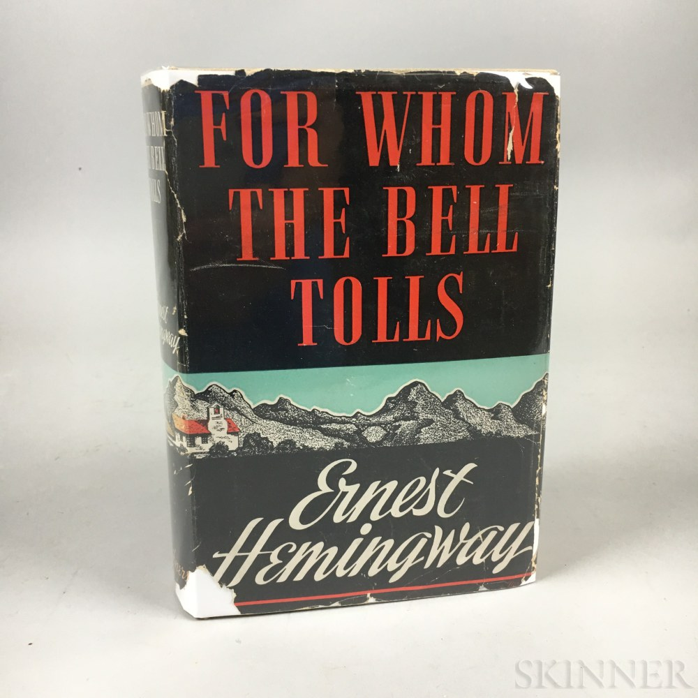 Hemingway, Ernest (1899-1961) For Whom the Bell Tolls.