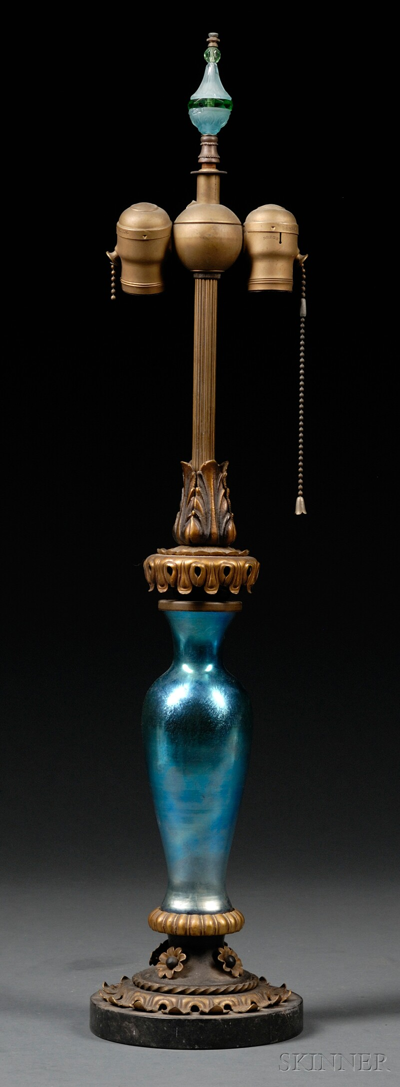 Table Lamp Attributed to Steuben