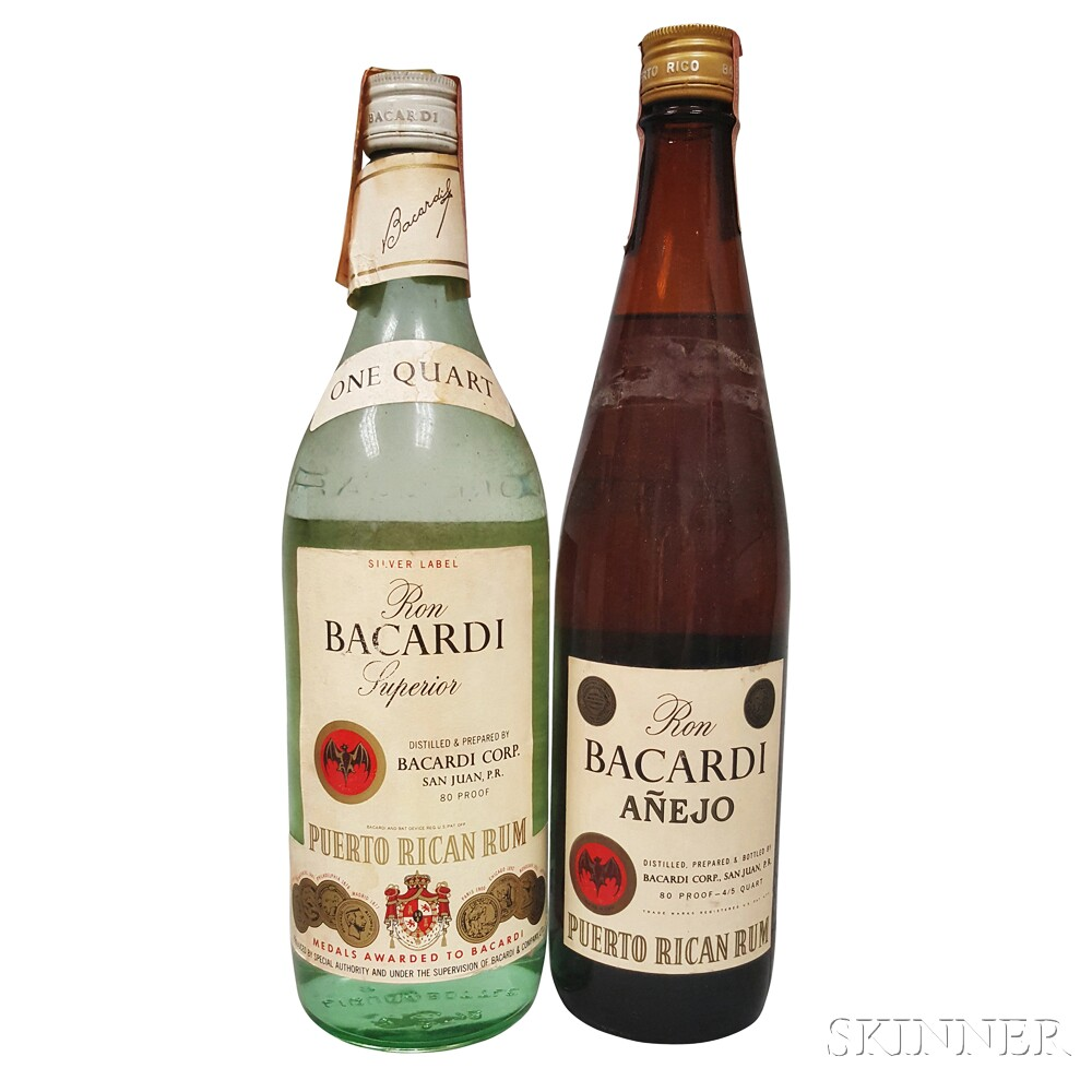 Mixed Ron Bacardi, 1 4/5 quart bottle 1 quart bottle