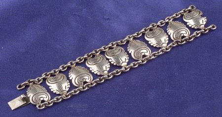 Silver Bracelet, Hector Aguilar, Taxco