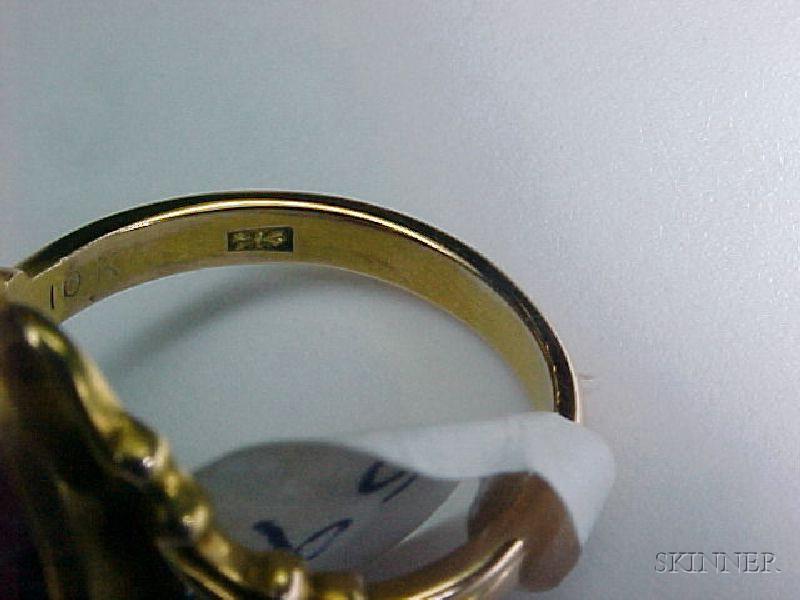 Two Antique Gem-set Rings