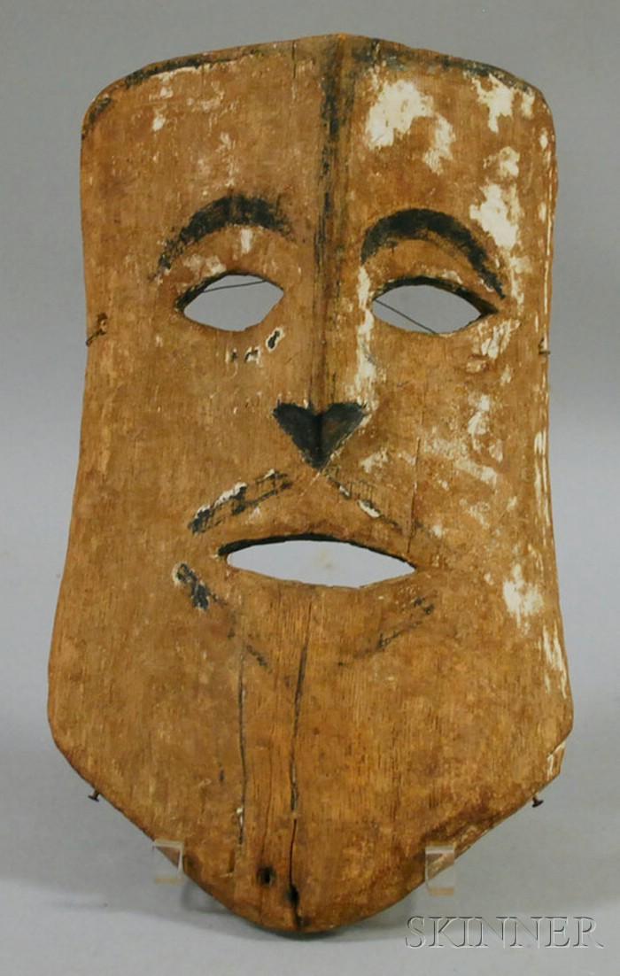 Carved Wooden Ethnographic Mask.
