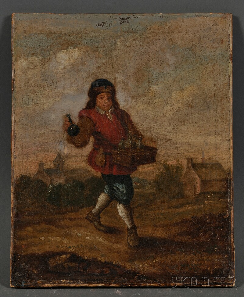 Manner of David Teniers the Younger (Flemish, 1610-1690)      The Essence Vendor