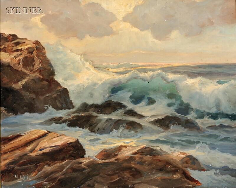 Malcolm (M.C.) Waite (American, 20th Century)      Crashing Waves