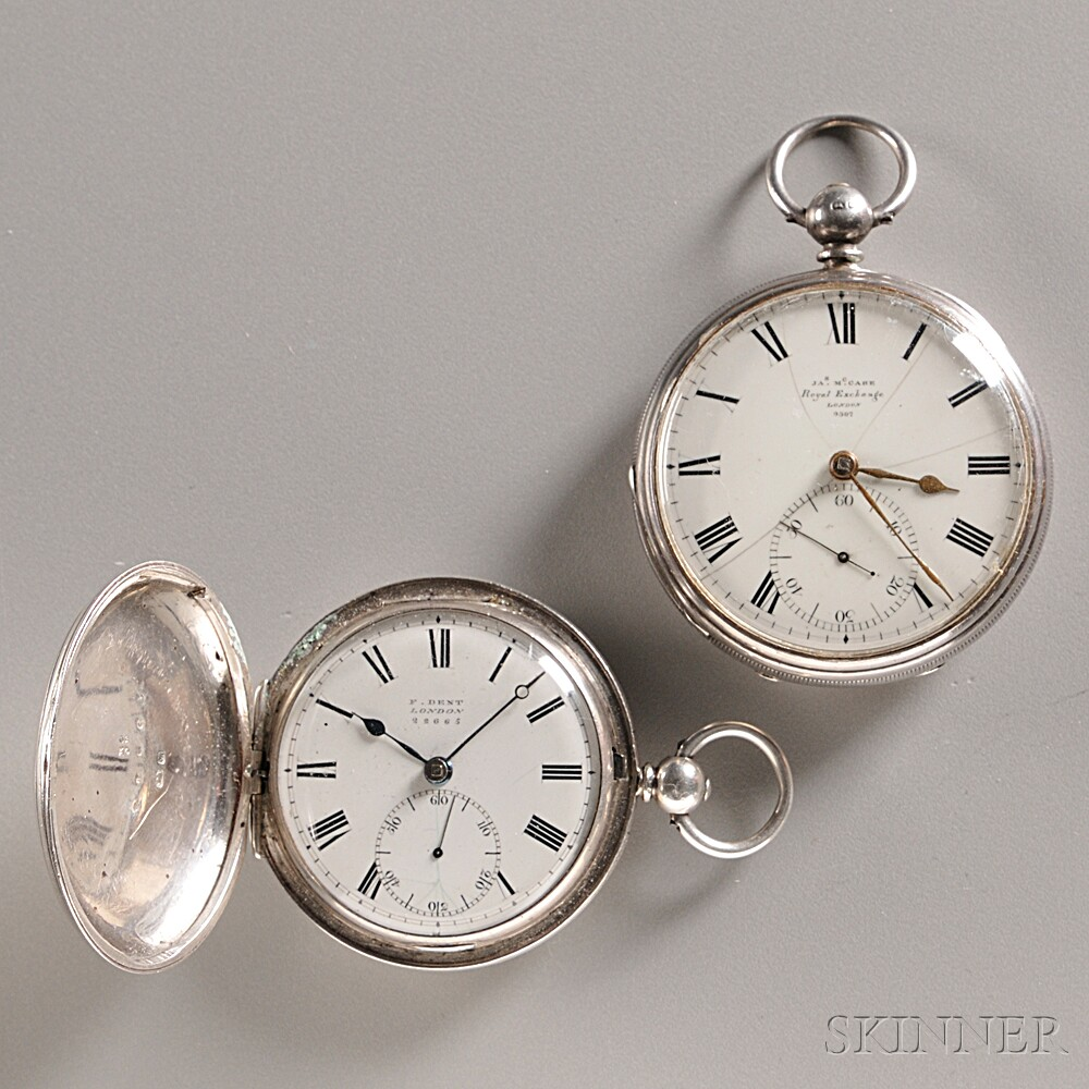 Two Silver London Watches