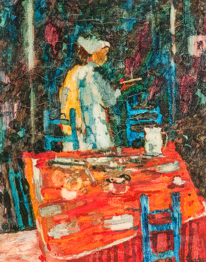 After Donald Roy Purdy (American, b. 1924)      Clearing the Table