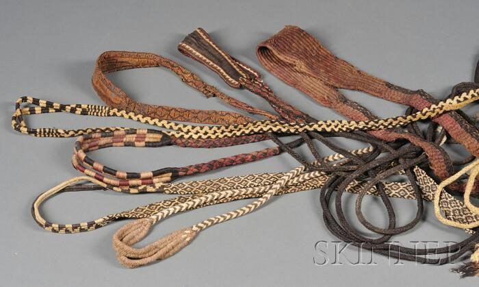 Seven Pre-Columbian Woven Slings