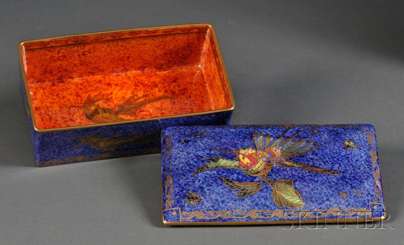Wedgwood Hummingbird Lustre Box and Cover