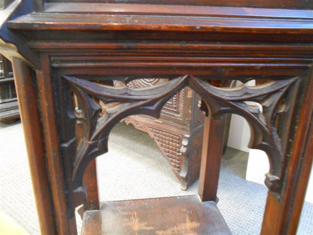 Gothic Revival Walnut Cabinet