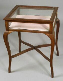 Rococo-style Mahogany Vitrine Table