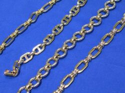 Four 14kt White and Yellow Gold Bracelets