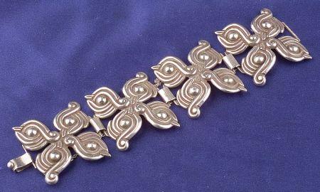 Sterling Silver Bracelet, Los Castillo, Taxco