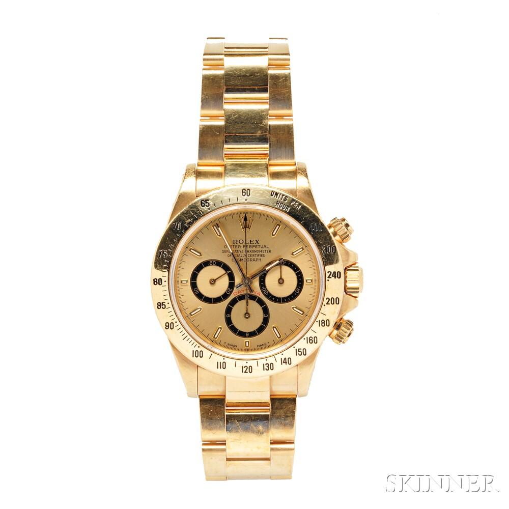 "18kt Gold ""Daytona Cosmograph"" Wristwatch, Rolex"