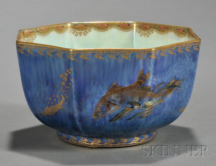 Wedgwood Fish Lustre Octagonal Bowl