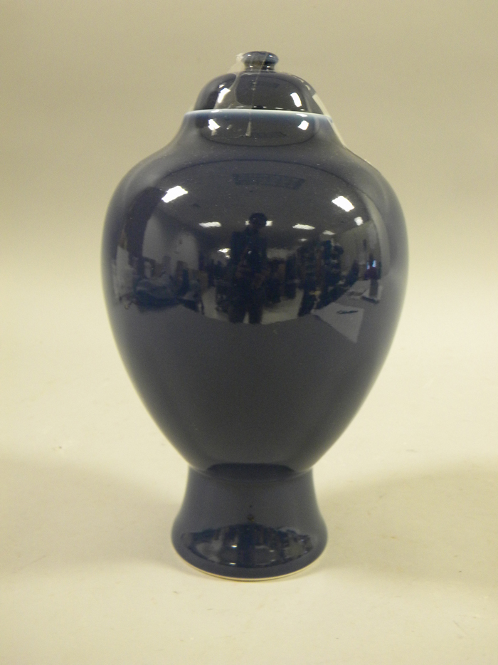 Blue Glazed Jar and Cover