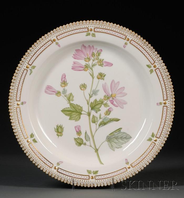 "Royal Copenhagen ""Flora Danica"" Porcelain Platter"