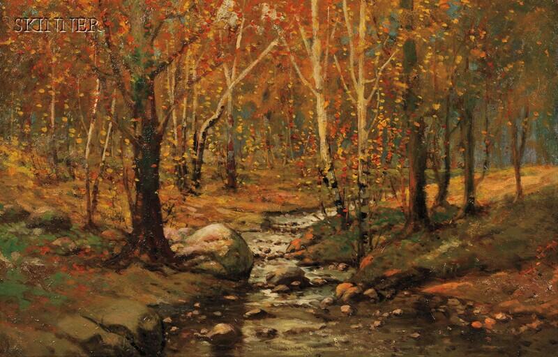 William Bliss Baker (American, 1859-1886)      Woodland Brook
