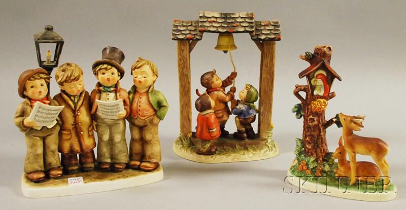 Three Large Goebel/Hummel Ceramic Figural Groups