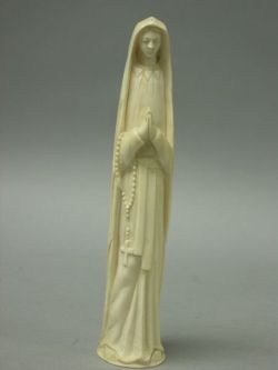 Carved Ivory Figure of a Nun Saint.