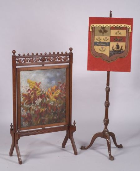 Two Victorian Fire Screens