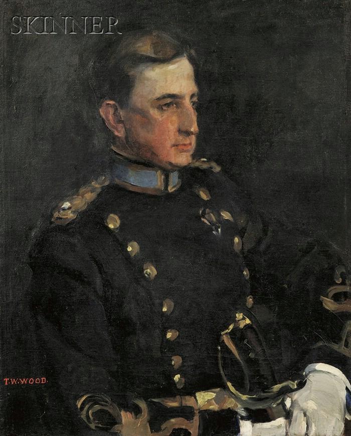 Thomas Waterman Wood (American, 1823-1903)      Pair of Portraits:  Ella Luthera Dewey