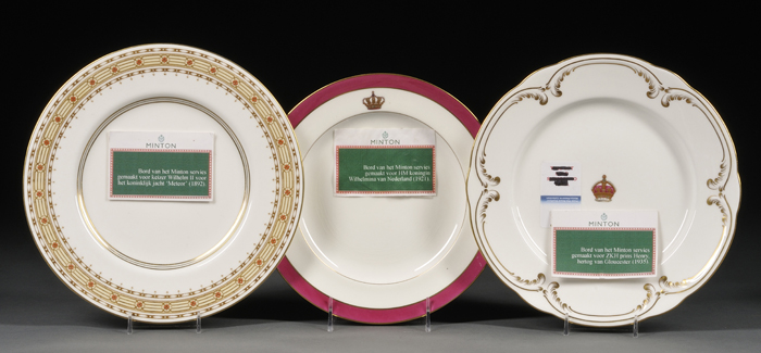 Three Mintons Bone China Service Plates