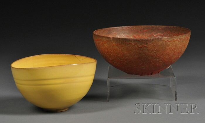 Two Gertrude and Otto Natzler Bowls