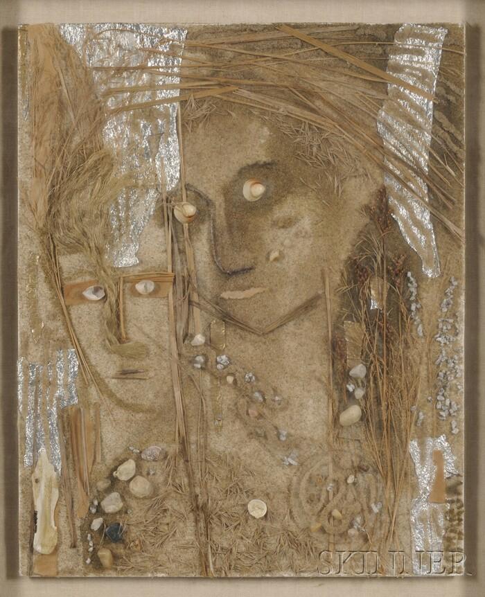 Anne Marie de Samarjay (American, 20th/21st Century)      Two Figures/A Seaside Composition