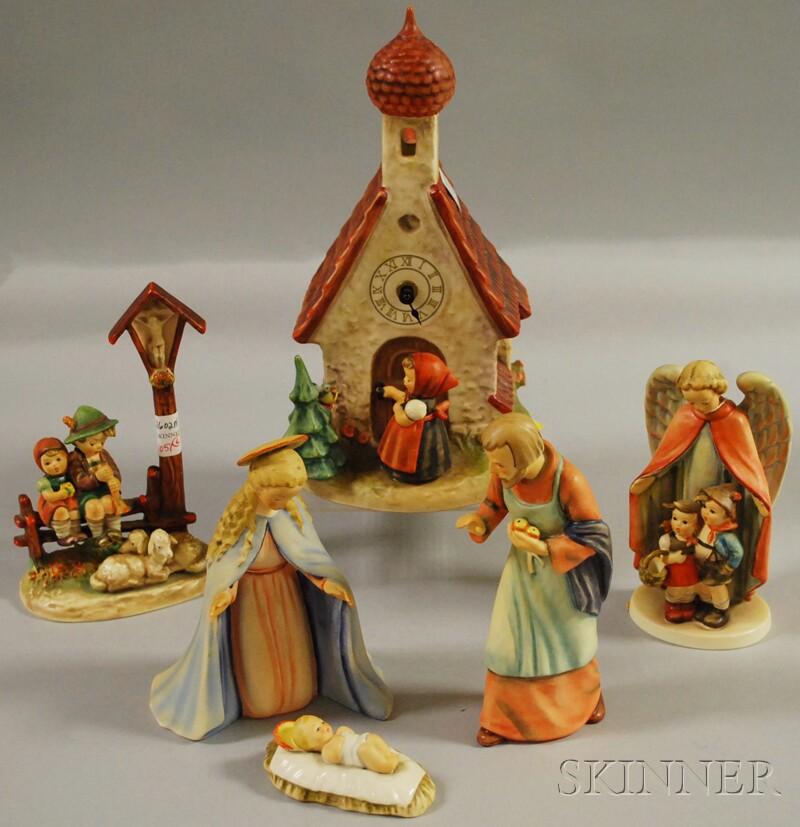 Six Goebel/Hummel Ceramic Figures