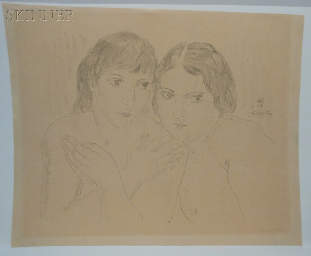 Léonard Tsuguharu Foujita (Japanese/French, 1886-1968)      Deux amies.