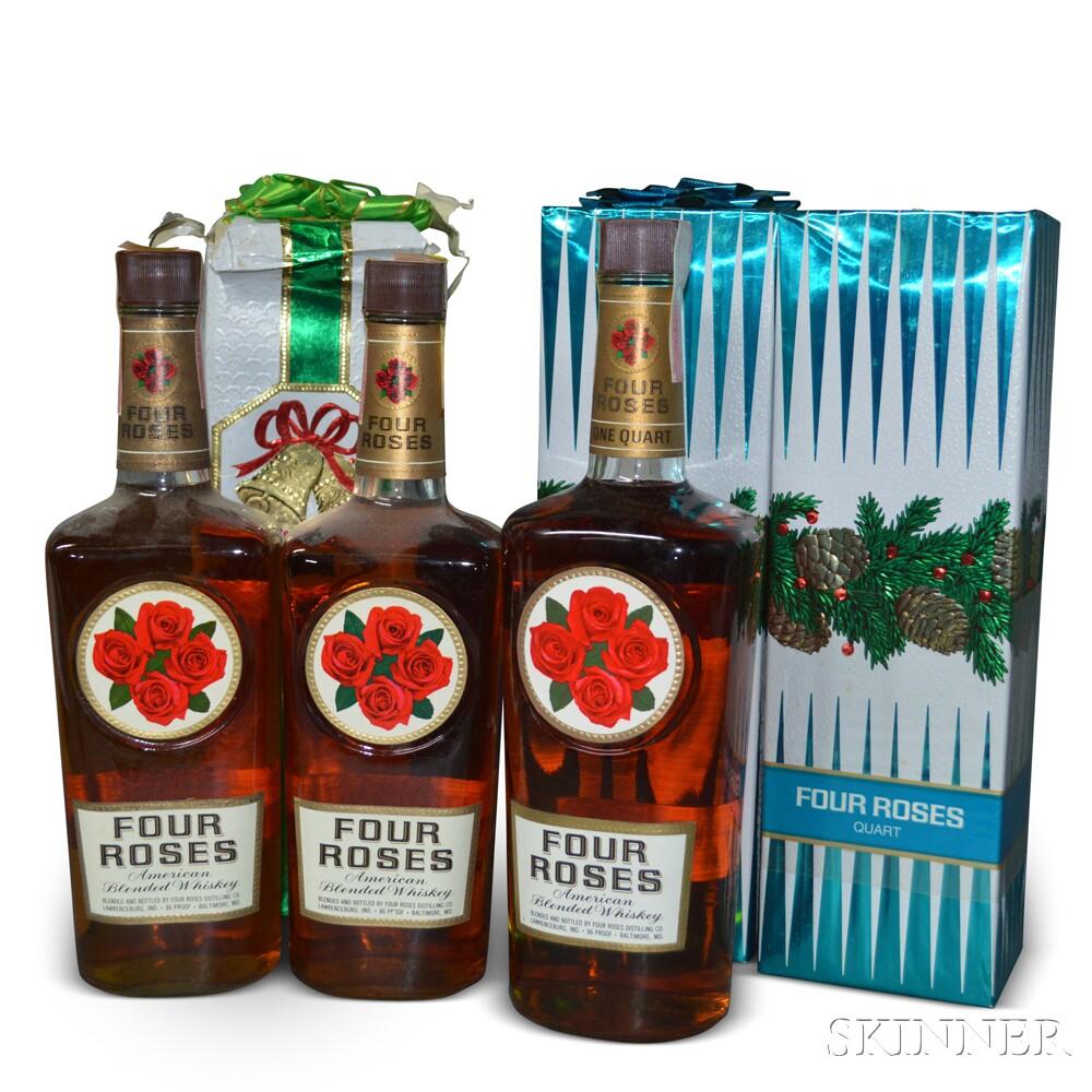 Four Roses American Blended Whiskey, 12 4/5 quart bottles